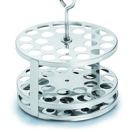 Wasserbadeinsatz für Reagenzgläser, rund