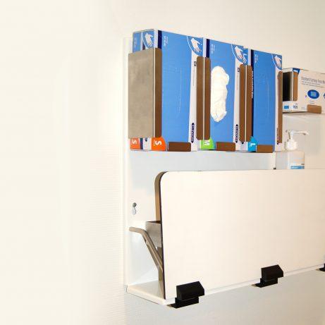 klappbare, mobile Hygienestation für Wandbefestigung