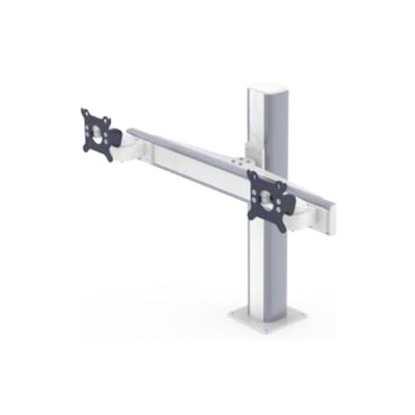 Doppelhalterungen für Flachbildschirme nebeneinander mit VESA 75100 Adaption
