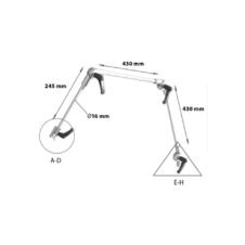 Medizinische Gelenkarme / Flex-Haltearme für Beatmungsschläuche