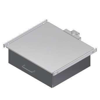 M100-021-00 Konsole, Ablageplatte, Monitorträger mit 1 Schubfach