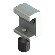 Halteklaue, Klemmklaue, Klaue, Normschienenklaue, Geräteschienenklaue, Schienenklaue mit Anbindung an Normschiene 10 x 25 mm