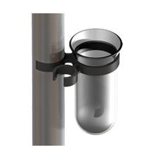 Abtropfglas mit Halterung