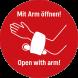 Freihandtüröffner mit Arm öffnen